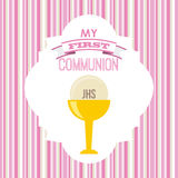 My first communion. Design,  illustration eps10 graphic Royalty Free Stock Images