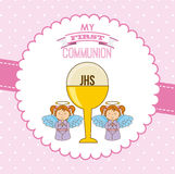 My first communion. Design,  illustration eps10 graphic Stock Photo
