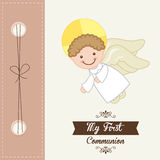 My first communion. Design,  illustration eps10 graphic Stock Image