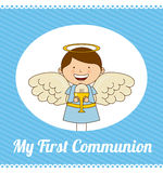 My first communion. Design,  illustration eps10 graphic Stock Images