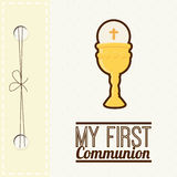 My first communion. Design,  illustration eps10 graphic Stock Photos