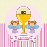 My first communion. Design, vector illustration eps10 graphic Stock Photo