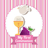 My first communion. Design, vector illustration eps10 graphic Royalty Free Stock Photos