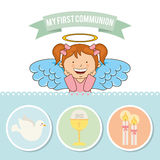 My first communion Stock Photos