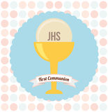 My first communion. Design, vector illustration eps10 graphic Stock Photography