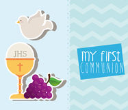 My first communion. Design, vector illustration eps10 graphic Stock Photos