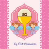 My first communion. Design, vector illustration eps10 graphic Stock Images