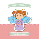 My first communion Royalty Free Stock Photography
