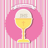 My first communion. Design, vector illustration eps10 graphic Royalty Free Stock Image