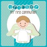 My first communion Stock Photo