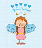 My first communion. Design, vector illustration eps10 graphic Stock Image