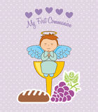 My first communion. Design, vector illustration eps10 graphic Royalty Free Stock Photo