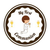 My first communion Royalty Free Stock Photo