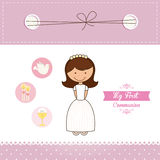 My first communion. Design, vector illustration eps10 graphic Royalty Free Stock Photography