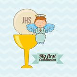 My first communion design Royalty Free Stock Photos