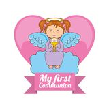 My first communion design Royalty Free Stock Photography