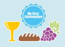 My first communion design Stock Photography