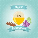 My first communion design. Vector illustration eps10 graphic Royalty Free Stock Photography