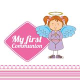 My first communion design Royalty Free Stock Images