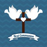 My first communion design. Vector illustration eps10 graphic Stock Photography