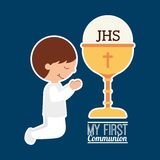 My first communion design. Vector illustration eps10 graphic Royalty Free Stock Photo