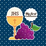 My first communion design. Vector illustration eps10 graphic Stock Images