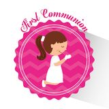 My first communion design Royalty Free Stock Image