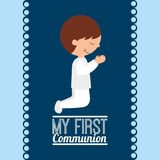My first communion design. Vector illustration eps10 graphic Royalty Free Stock Photos