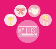 My first communion design. Vector illustration eps10 graphic Royalty Free Stock Image