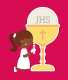 My first communion design. Vector illustration eps10 graphic Stock Photo