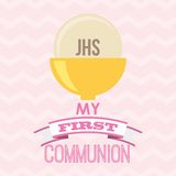 My first communion design Royalty Free Stock Photo