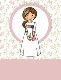My first communion girl vector illustration