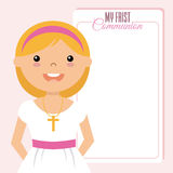 My first communion girl Stock Photos