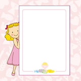 My first communion girl. Space for text or photo Stock Photo