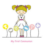 My first communion girl Royalty Free Stock Image