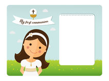 My first communion horizontal invitation Stock Images