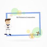 My first communion. Invitation card for first communion Royalty Free Stock Image