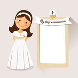My first communion invitation communion with message Royalty Free Stock Image
