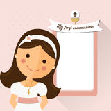 My first communion invitation with message Royalty Free Stock Photo