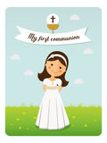 My first communion reminder. On blue sky background Royalty Free Stock Photography
