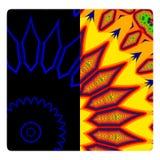 Kaleidoscope sun royalty free illustration