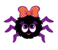 My first Halloween. Spider girl with pretty eyes. Stock Image