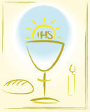 My first holy communion - background. Sacrament of yhe altar, blessed sacrament, the eucharist - background Stock Images