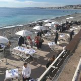 Nice Promenade Cafe royalty free stock image