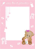 My first photo frame pink Royalty Free Stock Image