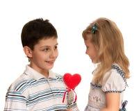 My first valentine Stock Image