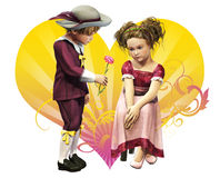 My First Valentine Royalty Free Stock Images