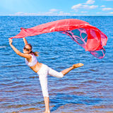 My flying banner of summer! stock photography