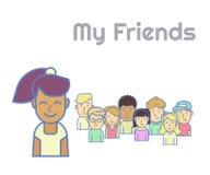 My friends Stock Photo