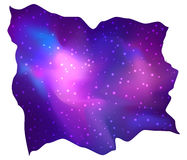My Galaxy. Vector bright colorful cosmos illustration with sacre. D geometry. Abstract cosmic background with stars. Astronomy, astrology, alchemy, boho and Royalty Free Stock Photos